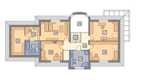 Rzut poddasza POW. 145,8 m²