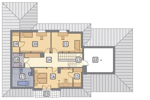 Rzut poddasza POW. 130,1 m²