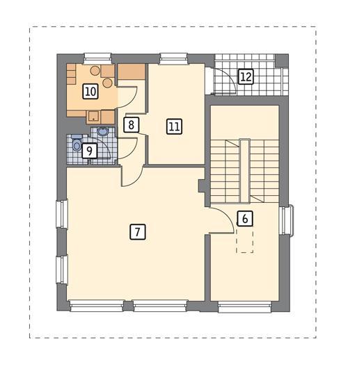 Rzut piętra POW. 81,9 m²