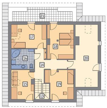 RZUT PODDASZA POW. 64,0 m²