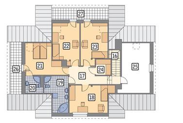 RZUT PODDASZA: wersja podstawowa POW. 78,3 m²